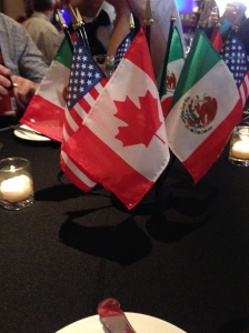 Flags, US, Mexico, Canada